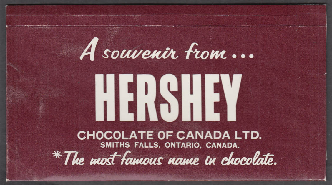 Hershey's Story / L'Histoire of Chocoate & Cocoa 2-language booklet 1963
