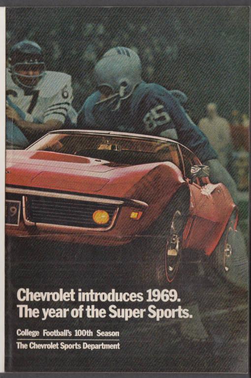 1969 Chevrolet Super Sports insert Corvette Nova SS Chevelle Camaro NCAA footbal