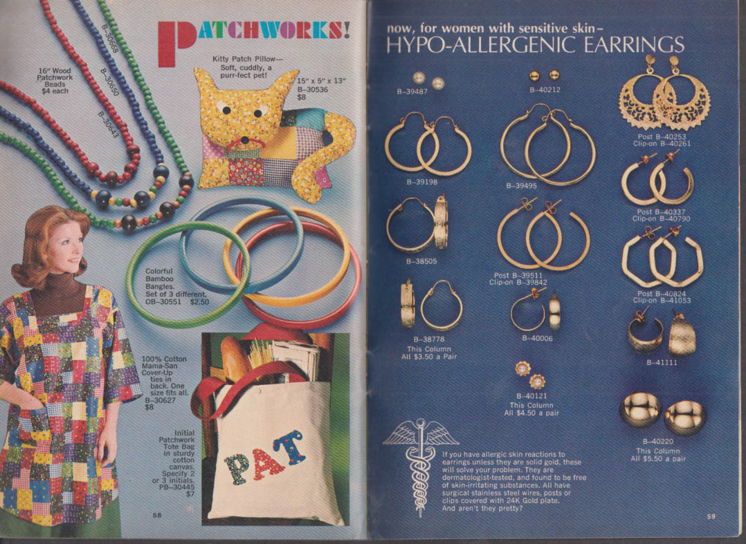 Spencer Gifts Jewelry Collection Mail Order Catalog 1976