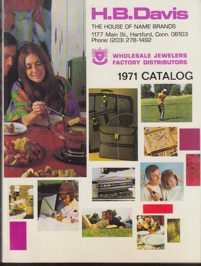 H B Davis Wholesale Name Brands Catalog 1971 toys sports jewelry optics bikes ++