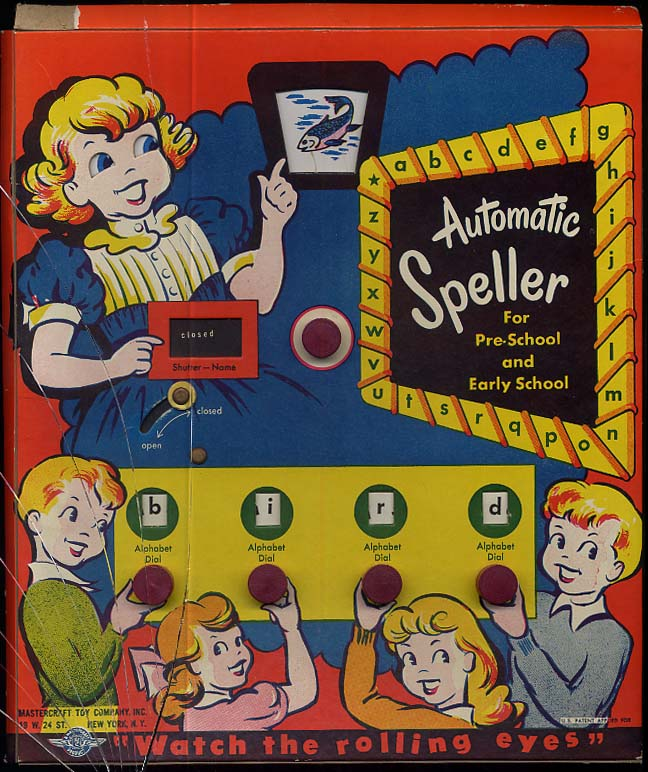 Mastercraft Toy Company Automatic Speller for Pre-School & Early School 1950s