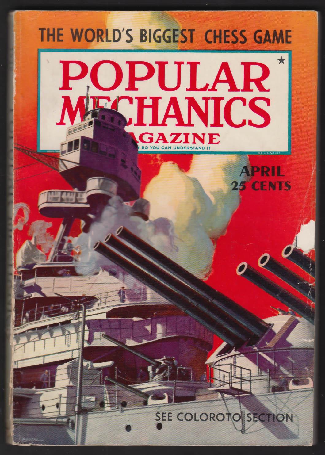 POPULAR MECHANICS Civil Aeronautics Authority Instrument Training US Navy 4 1940