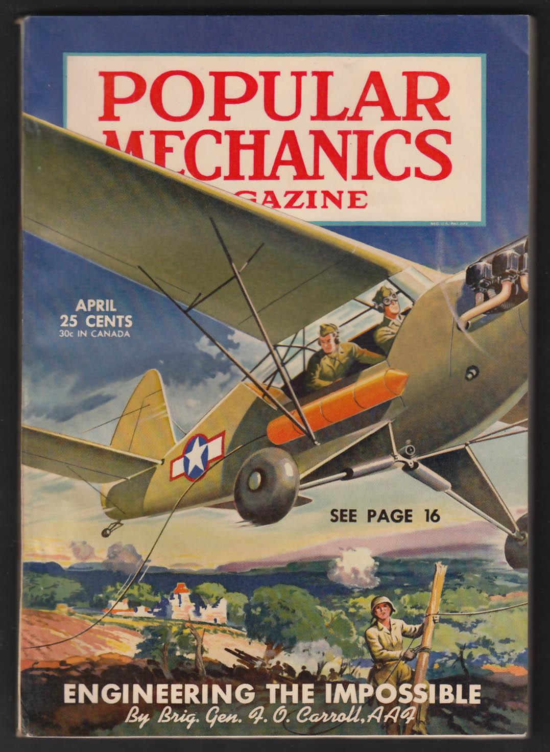 POPULAR MECHANICS US Army Aviation; Rebuilding Europe + 4 1945