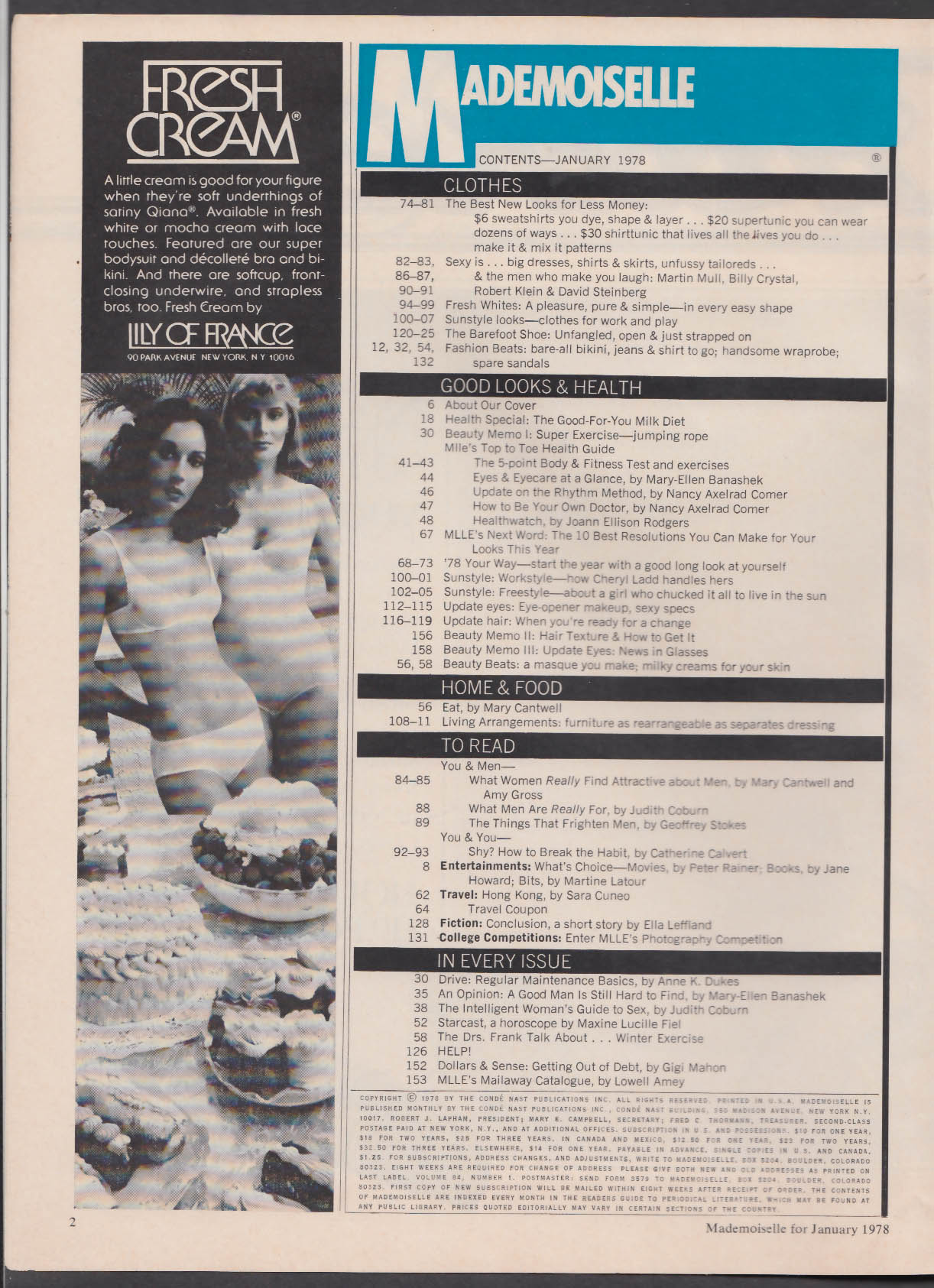 MADEMOISELLE Lena Kansbod Billy Crystal Robert Klein Cheryl Ladd + 1 1978