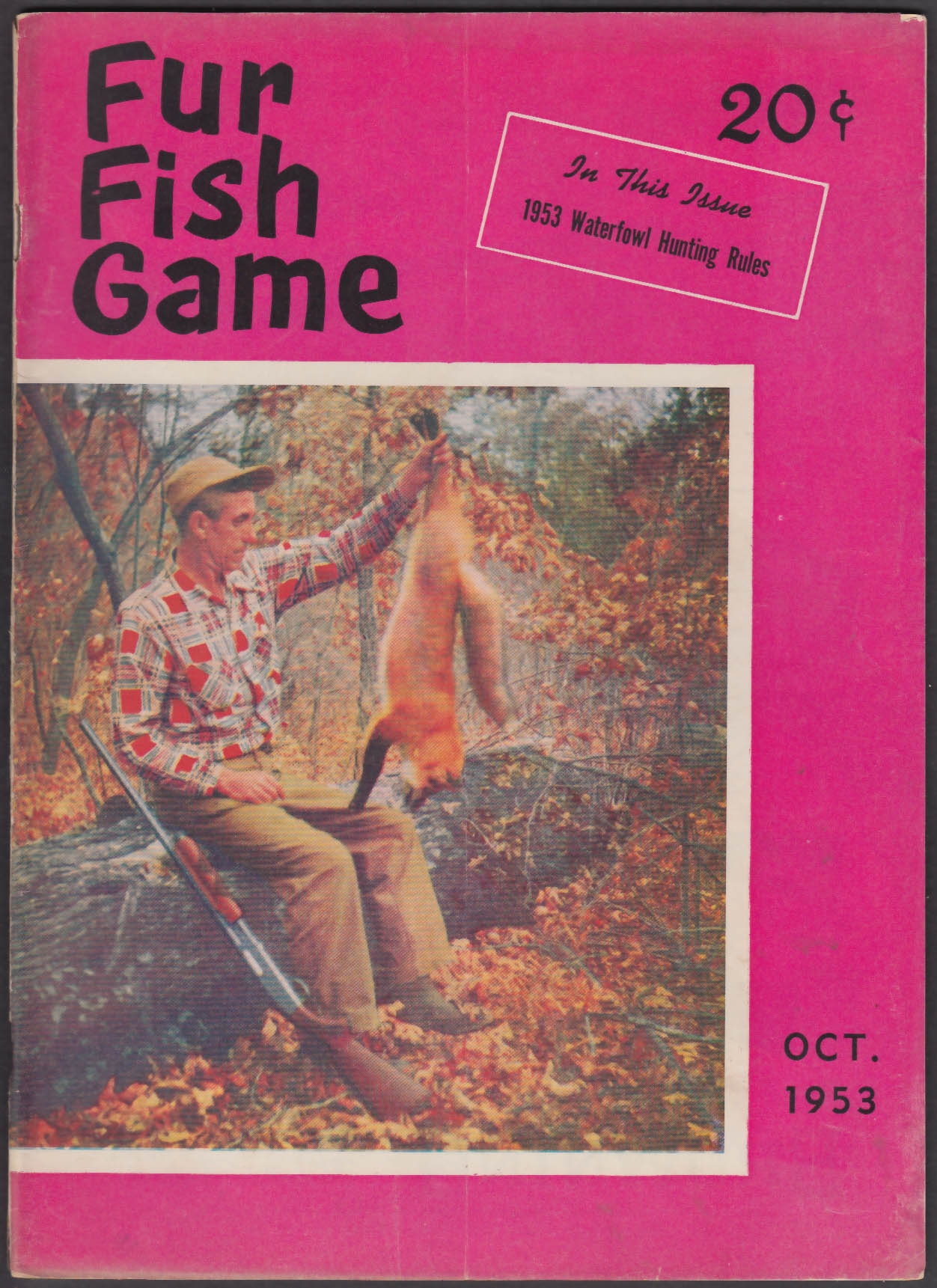 FUR FISH GAME Waterfowl Hunting Rules; Antelope Hunting; Island Cache + 10 1953