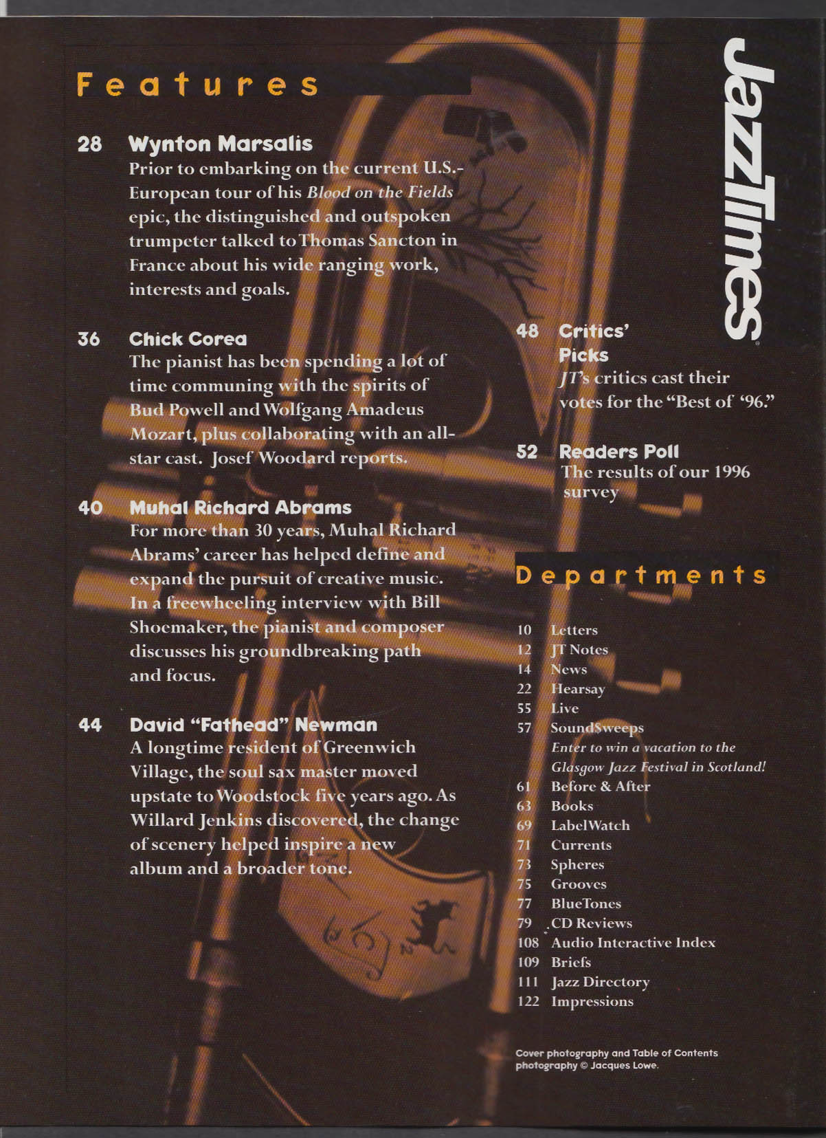 JAZZTIMES Wynton Marsalis Chick Corea Muhal Richard Abrams + 3 1997