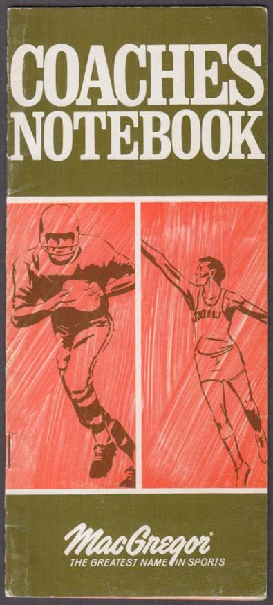 MacGregor Football & Baseball Coaches Notebook 1970-1972
