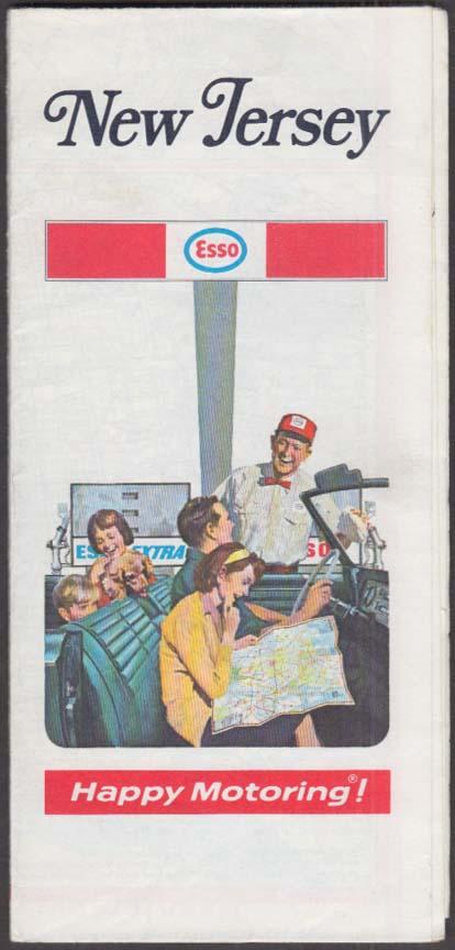 Esso Gasoline Road Map New Jersey 1970