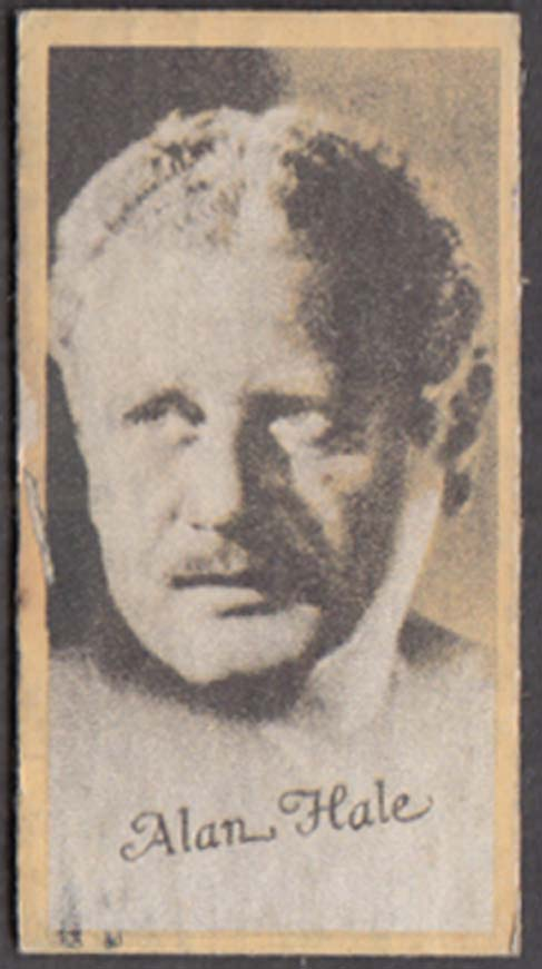 Actor Alan Hale Engrav-o-tints weight & fortune scale result card 1930s