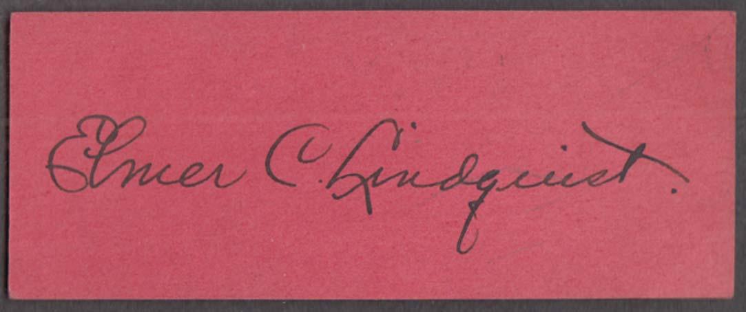 Clown Joey aka Elmer C Lindquist AUTOGRAPHED souvenir ticket 1950s