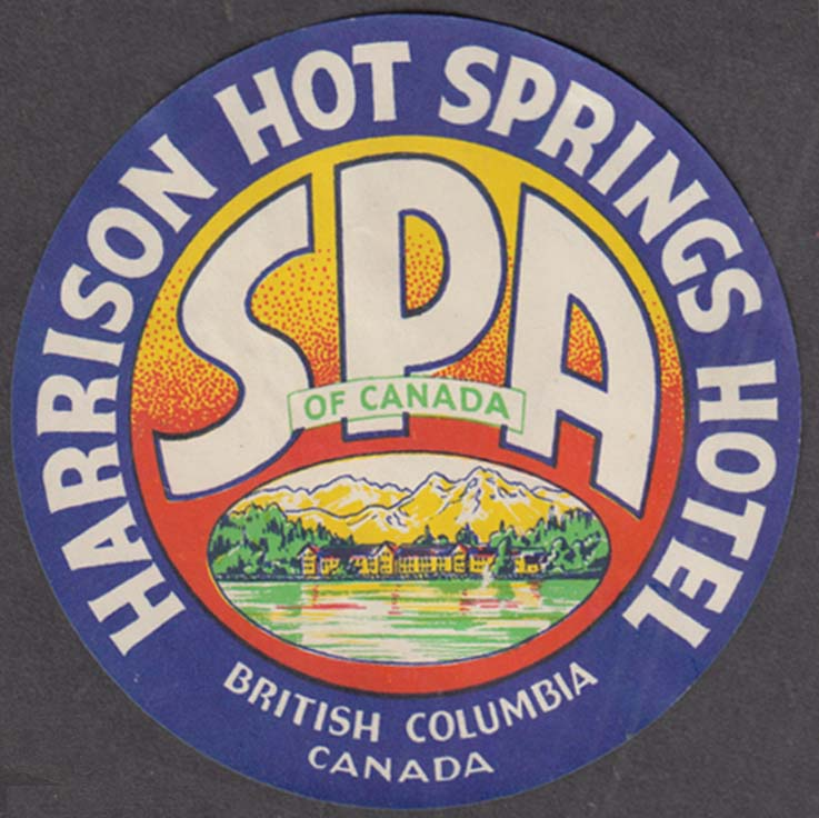 Harrison Hot Springs Hotel Spa British Columbia baggage sticker