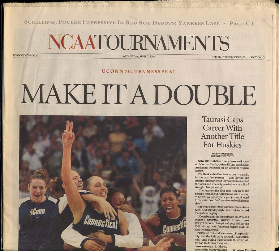 Image for Make It a Double NCAA Champs UConn Men's & Women's Basketball 2004