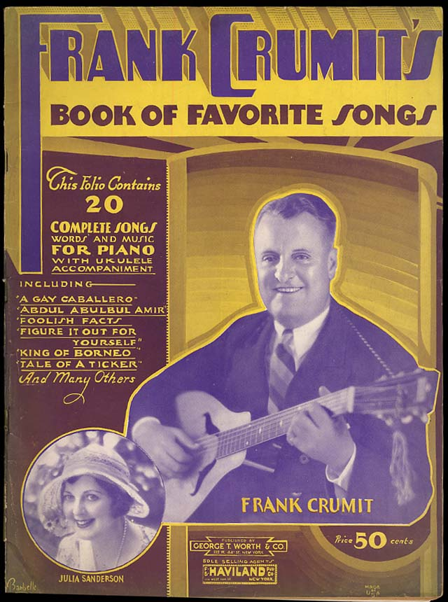 Frank Crummit's Book of Favorite Songs for Piano & Ukulele 1932
