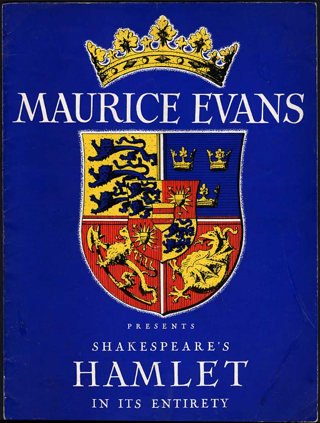 Image for Maurice Evans Presents Shakespeare's Hamlet in its Entirety souvenir program