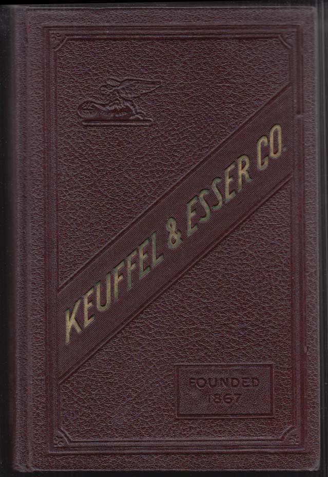 Keuffel & Esser Drafting Drawing Surveying Equipment Catalog 38th edition 1937
