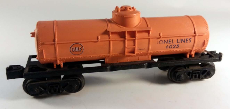 Lionel 6025 Gulf Tankcar 1956 orange