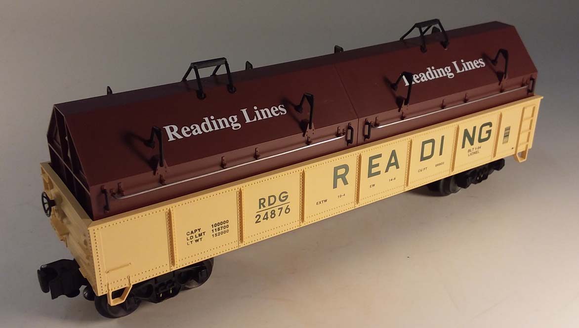 Lionel 6-17405 Reading Gondola with Coil Covers 1990 NIB