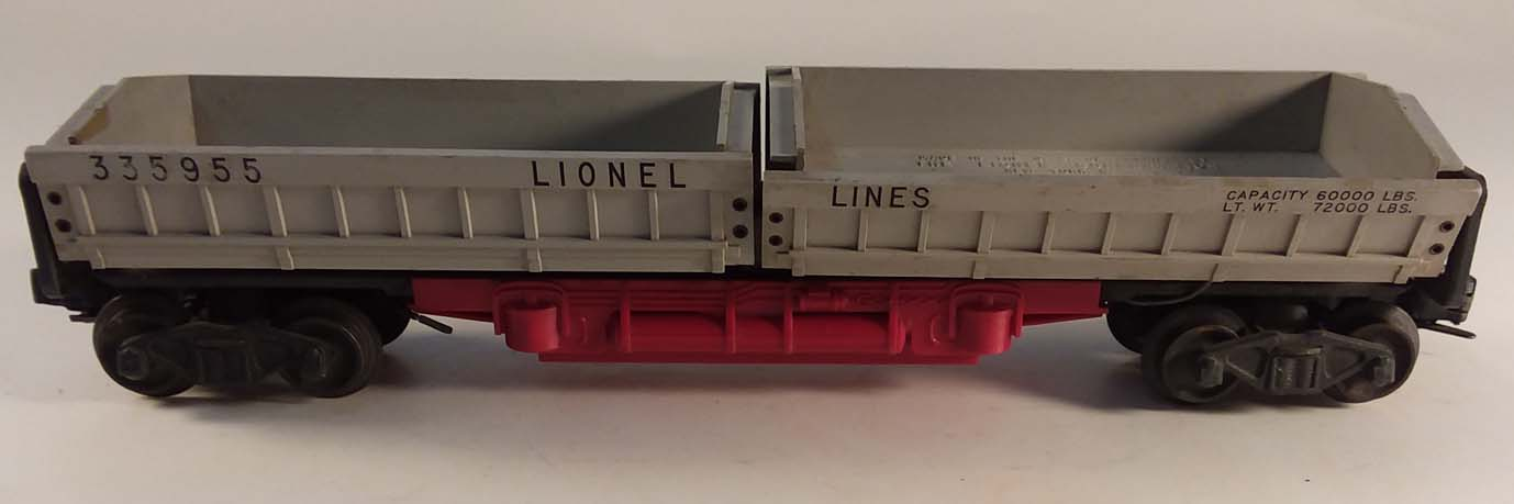 Lionel #3359 operating dump car #335955 in incomplete box