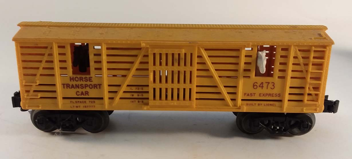 Lionel Fast Express Horse Transport action stock car 6473