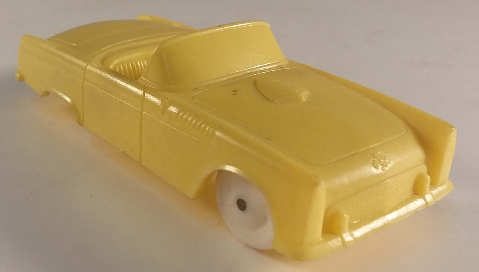 1955 Ford Thunderbird in yellow Wheaties cereal giveaway