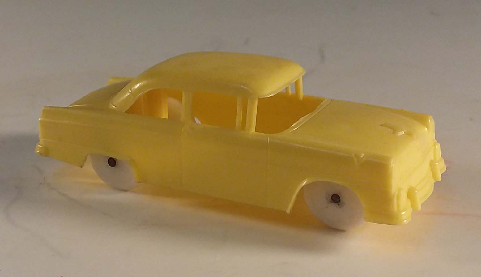 1955 Ford Tudor in yellow Wheaties cereal giveaway