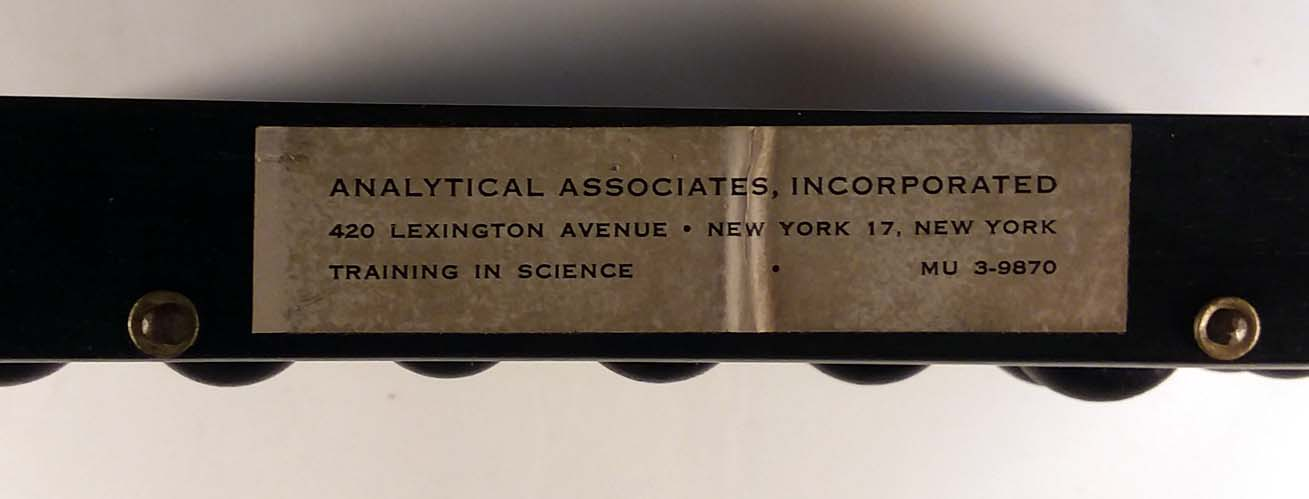 Analytical Associates Chinese Abacus Bead Arithmetic w/ instruction book