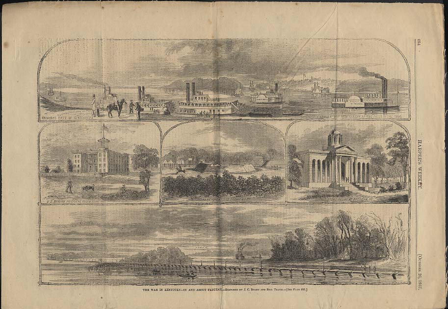 Image for HARPER'S WEEKLY page 10/26 1861 Civil War in Kentucky in & about Paducah