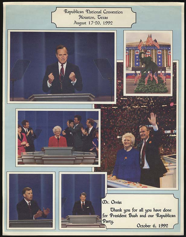 Image for Republican National Convention Houston TX picture collage Pres Bush 1992