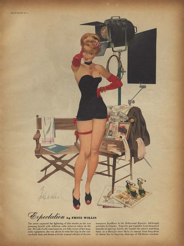 Expectation by Fritz Willis / Interlude by Joe De Mers pin-up page 1946