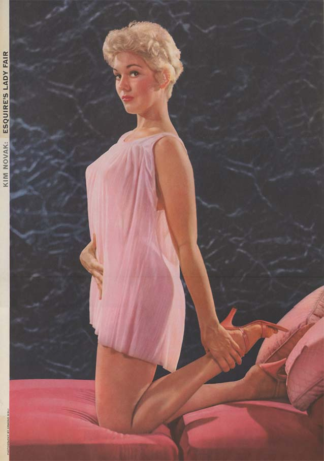 Kim Novak Esquire's Lady Fair pin-up foldout by Ormond Gigli 9 1955