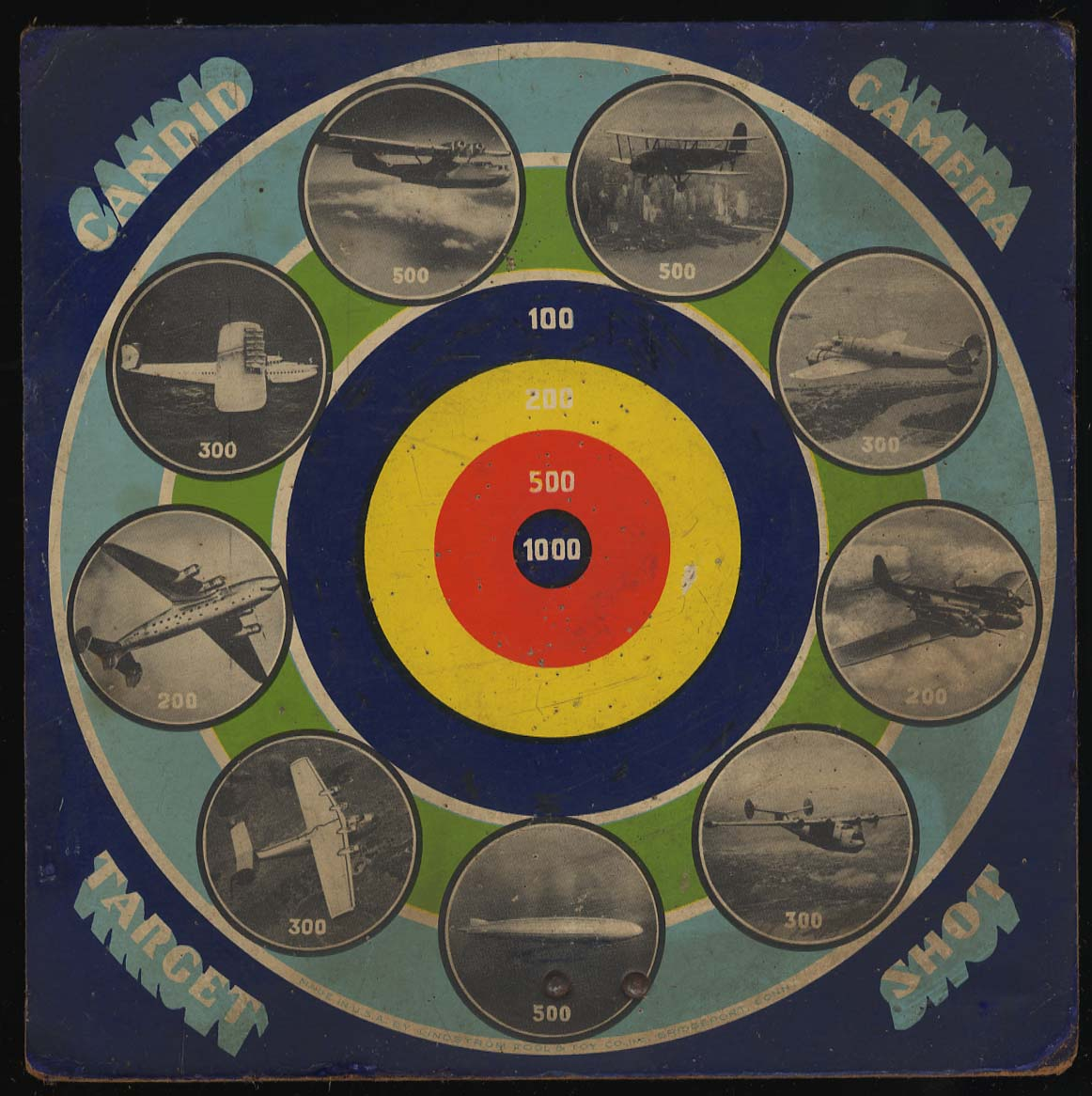 Candid Camera Target Shot wooden dartboard World War II Fokker Grumman +