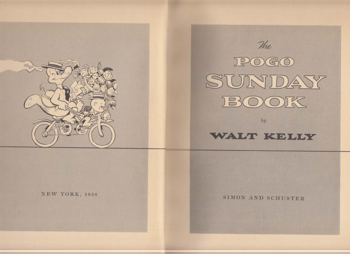 Walt Kelly: The Pogo Sunday Book 1st edition 1956
