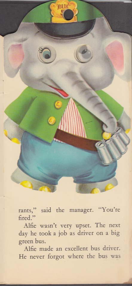 Alfie the Playful Elephant Peek-a-Book by Leah Gale 1962