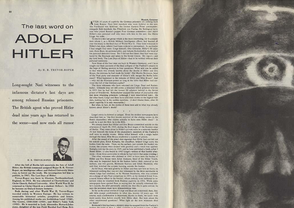 COLLIER'S 1/6 1956 Perry Como Hot Rod Hundley Adolf Hitler Melbourne Olympics