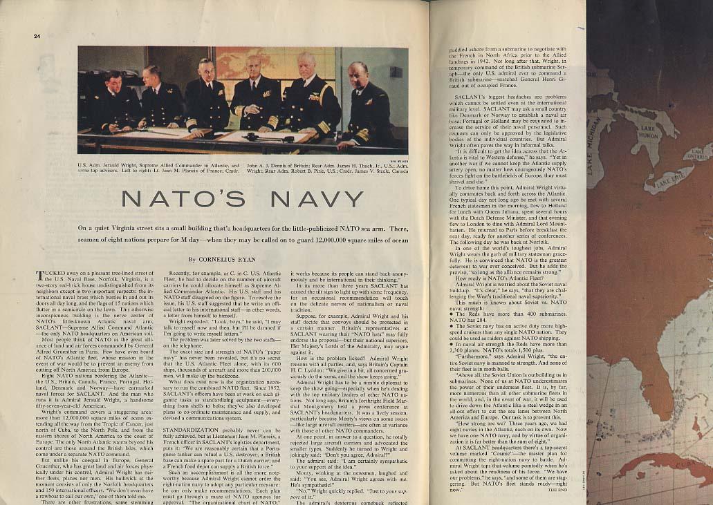 COLLIER'S 1/20 1956 Benny Goodman Steve Allen Nixon Hirschfeld NATO's Navy