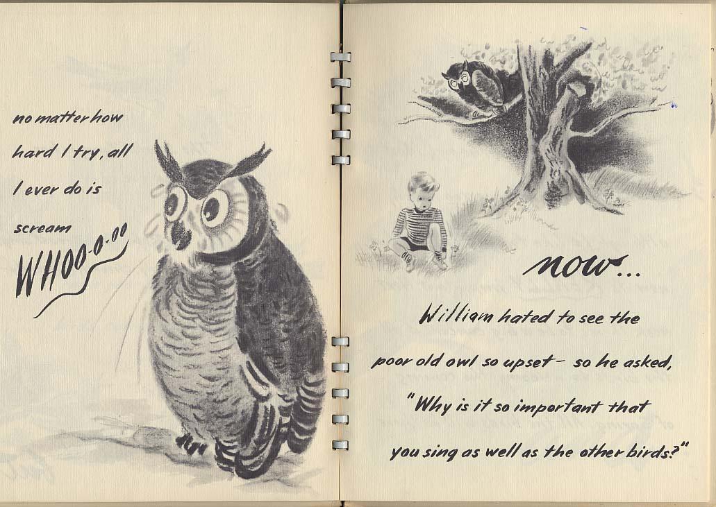 Tischlers: William & The Unhappy Owl children's book 1947