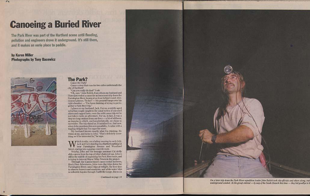 NORTHEAST 9/29 1996 Canoeing Park River Hartford CT; Bob Steele; Stew Leonard's