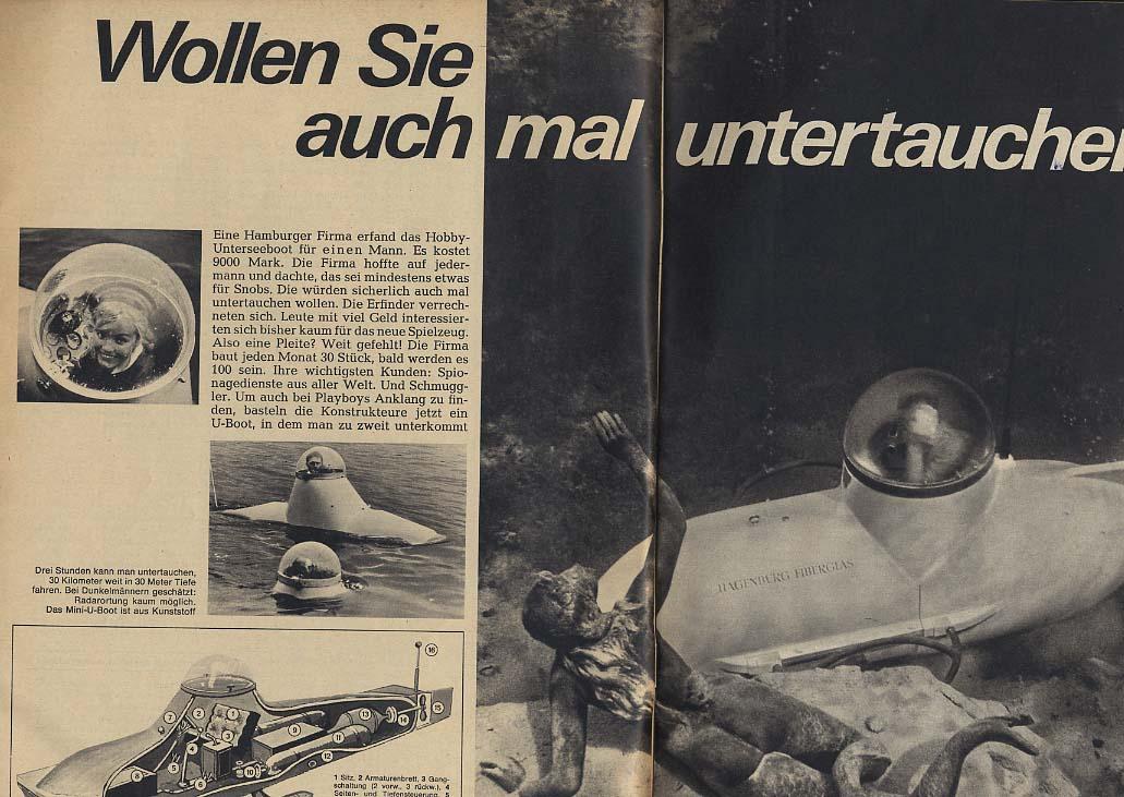 REVUE German Magazine 8/16 1964 Leticia Roman Barry Goldwater hobby submarine