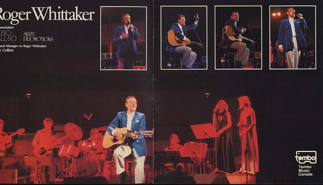 Singer Roger Whittaker Concert Souvenir Program 1981