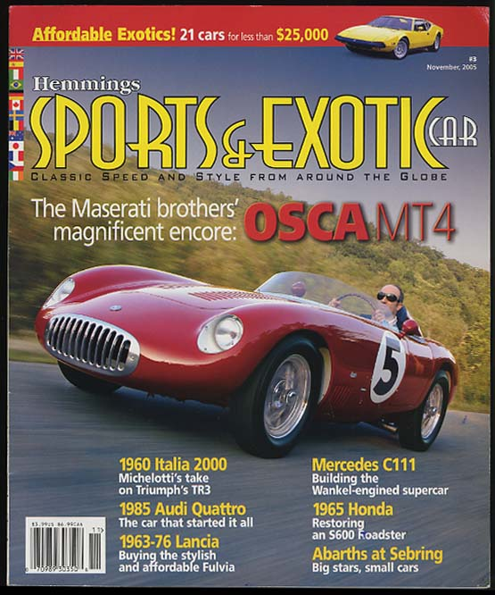 SPORTS & EXOTIC CAR 11 2005 Maserati OSCA MT4; Italia 2000 M-B C111 +