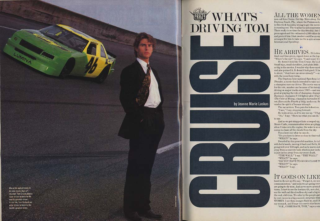LIFE 6 1990 Elvis Suicide? Tom Cruise Days of Thunder Dream cars