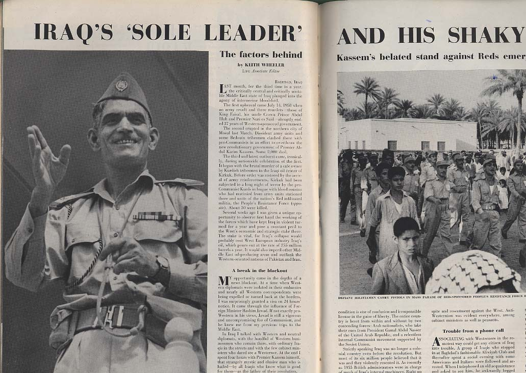LIFE 8/3 1959 Kingston Trio Rockefeller Cuba Iraq's Faisal Nixon-Khrushchev