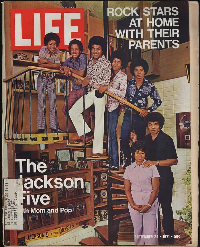 LIFE 9/24 1971 Jackson Five & rock stars at home; Crosby Havens Zappa +; Attica