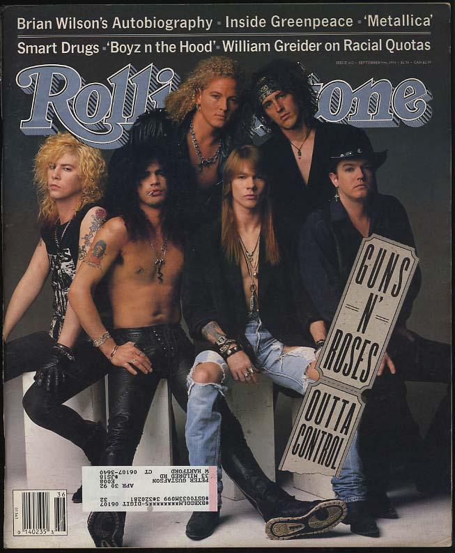 ROLLING STONE 9/5 1991 Guns N Roses Metallica Brian Wilson Greenpeace