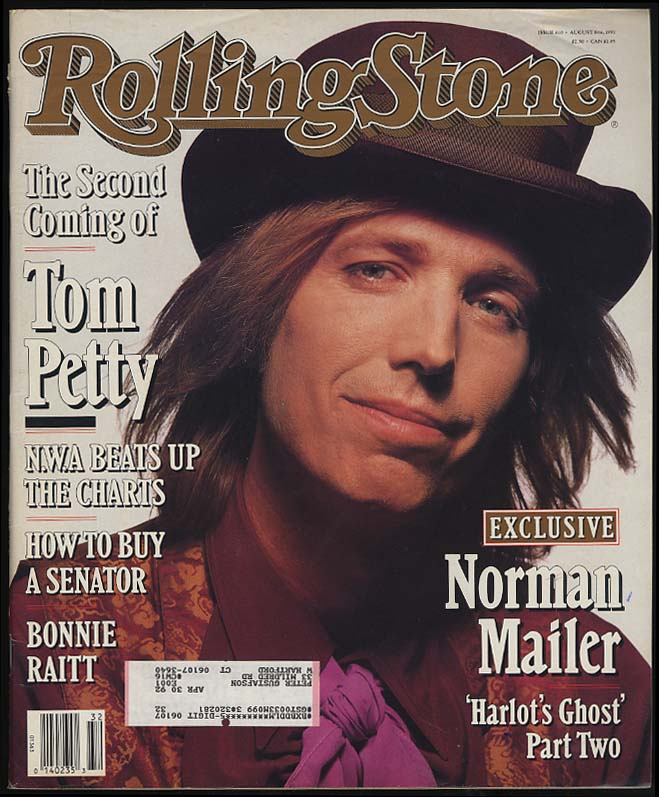 ROLLING STONE 8/8 1991 Tom Petty Norman Mailer Bonnie Raitt Jennifer Connelly