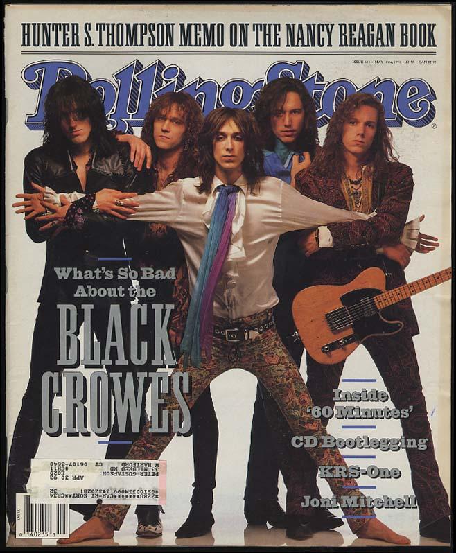 ROLLING STONE 5/10 1991 Hunter Thompson Black Crowes Joni Mitchell 60 Minutes