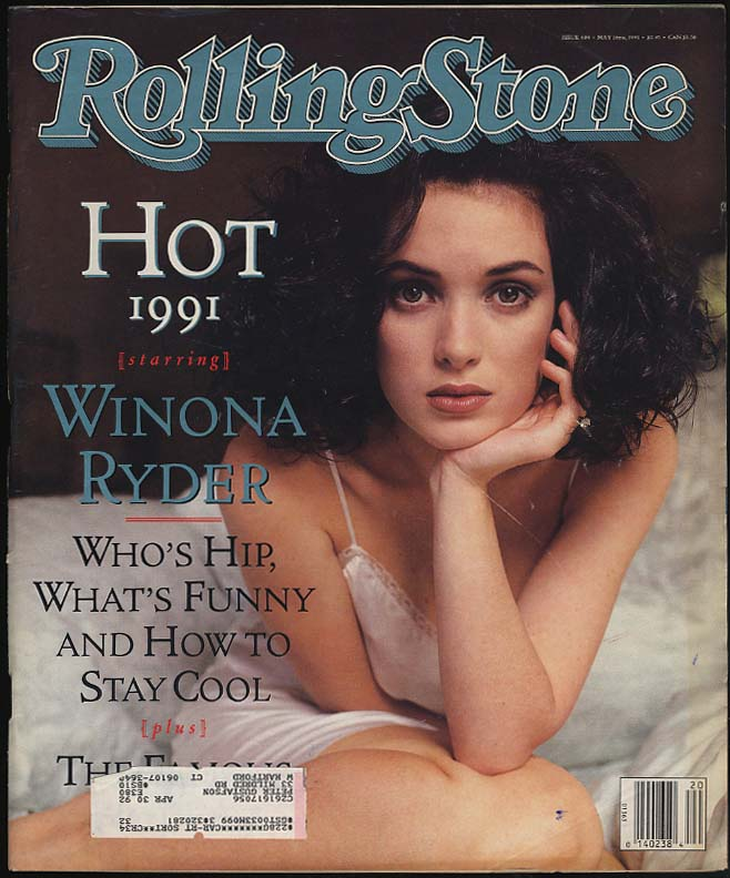 ROLLING STONE 5/16 1991 Winona Ryder Riddick Bowe Annette Bening Ice-T +