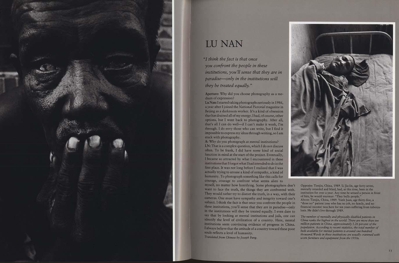 APERTURE Winter 1993 Schenck Nan Walker Kocol Hocks Tulis Turyn Messager Kon +