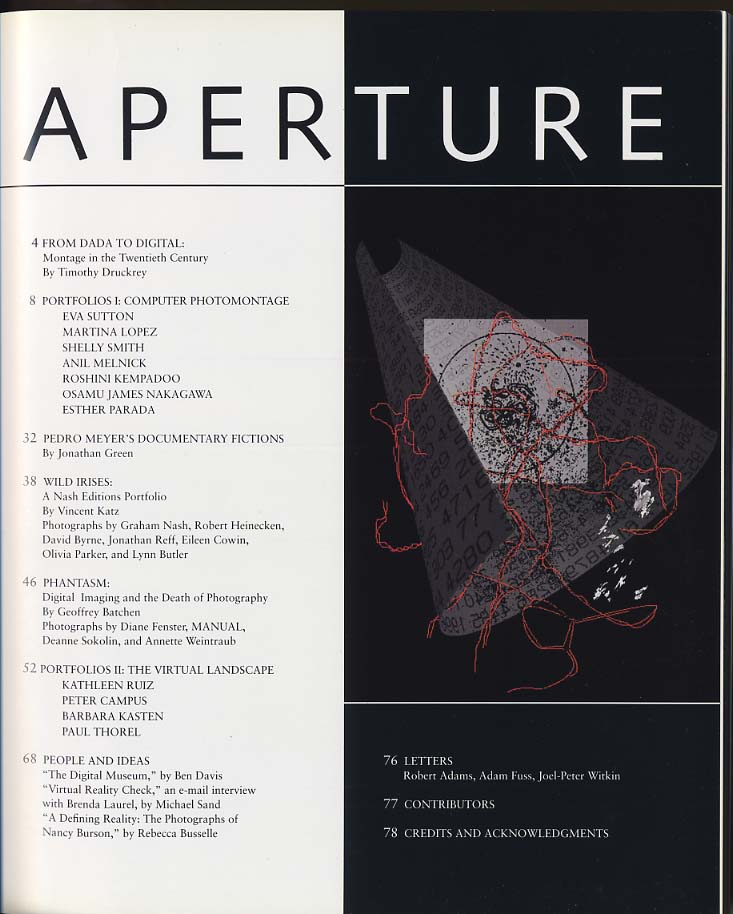 APERTURE Summer 1994 Photography in the Electronic Age Ruiz Kasten Thorel Campus