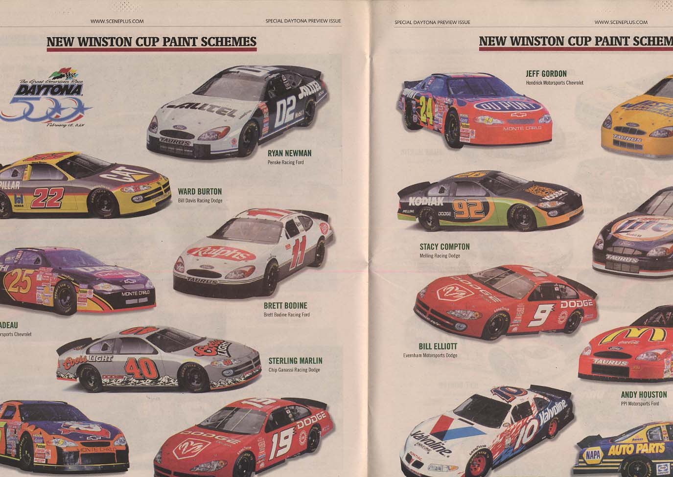 NASCAR WINSTON CUP SCENE Daytona 2001 Speedweeks preview & review